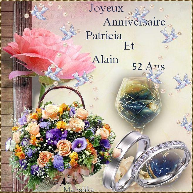 Joyeux Anniversaire De Mariage Patricia Et Alain